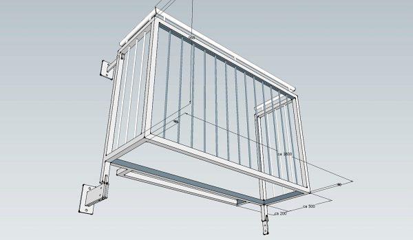Errichtung neuer Balkonanlagen am Verwaltungsgebäude des Bezirk OBB: