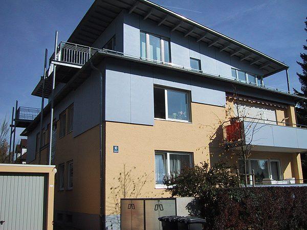 Aufstockung eines Mehrfamilienhauses in München, Toemlingerstraße